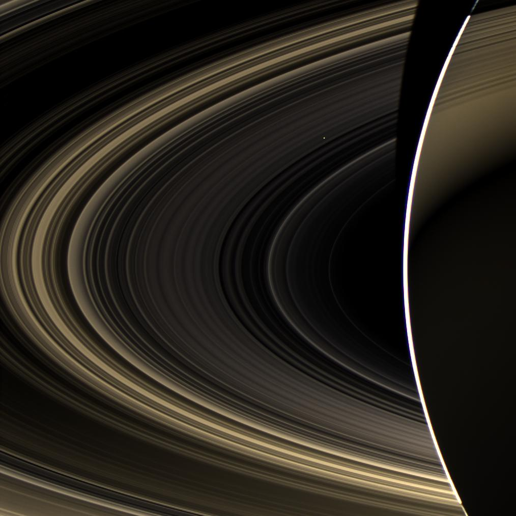NASA Spacecraft Photographs Venus as Seen from Saturn