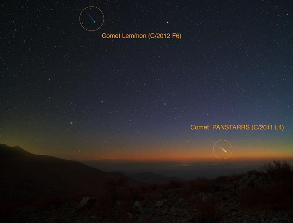 Comets Pan-STARRS and Lemmon from Las Campanas Observatory