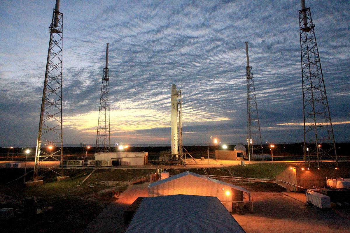 Falcon 9 and Dragon at Break of Day