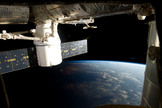 The capsule will begin its scheduled three-week-long stay at the orbiting space station. Image released March 3, 2013.