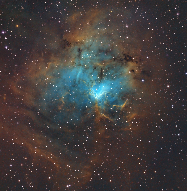Blue Nebula Shines in Stunning Night Sky Photo