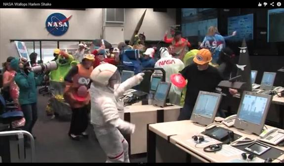 "Rocket scientists like to do the ""Harlem Shake"" too."
