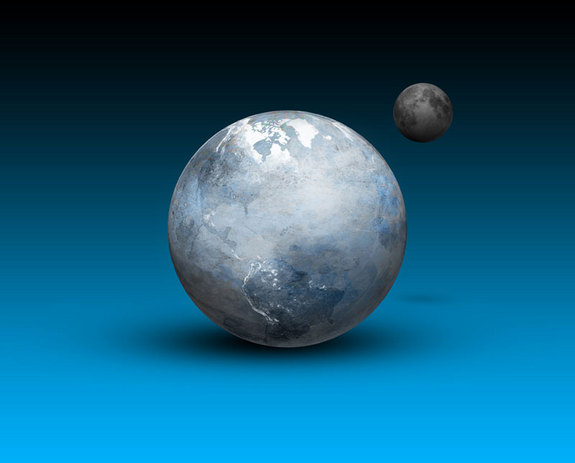 Artist's concept of a Snowball Earth.