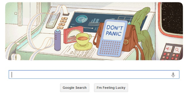 Don't Panic! Google Makes Douglas Adams Doodle