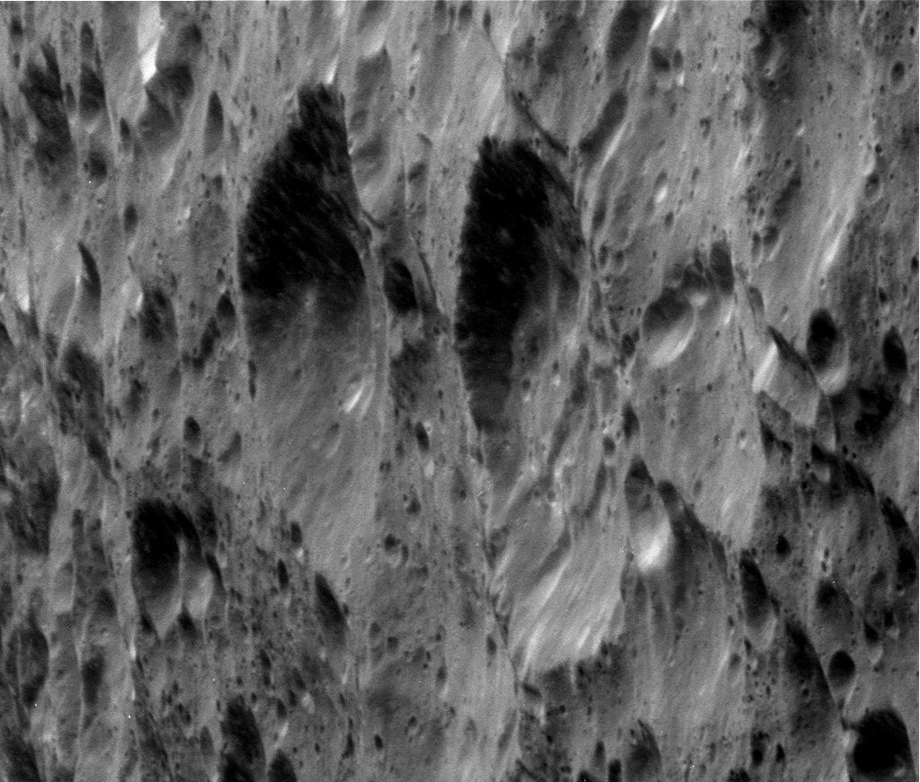 Cassini Image of Rhea