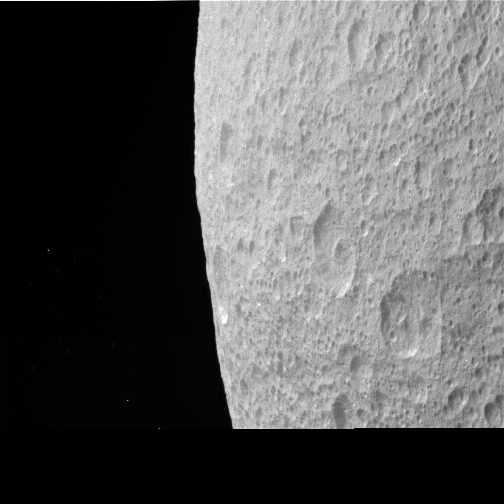 Cassini Raw Image of Rhea