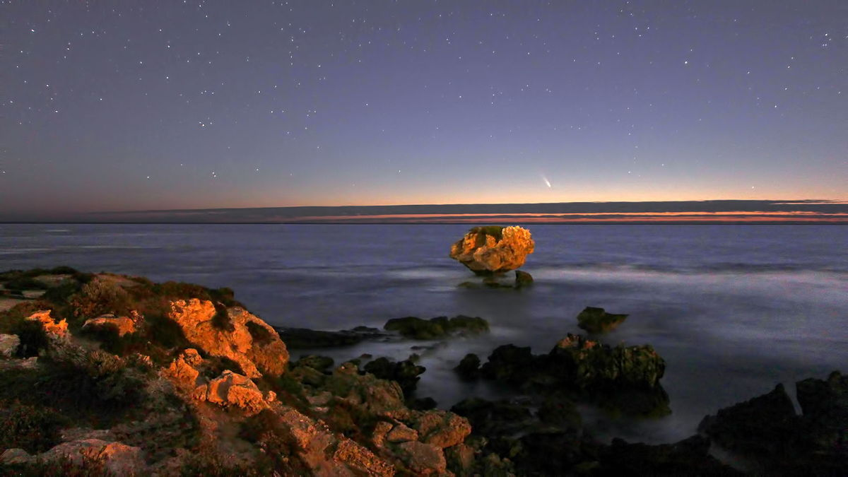 Comet Pan-STARRS Over the Indian Ocean