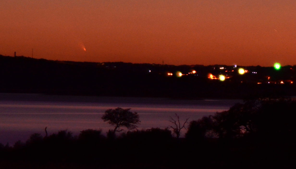 Comet Pan-STARRS Over Texas