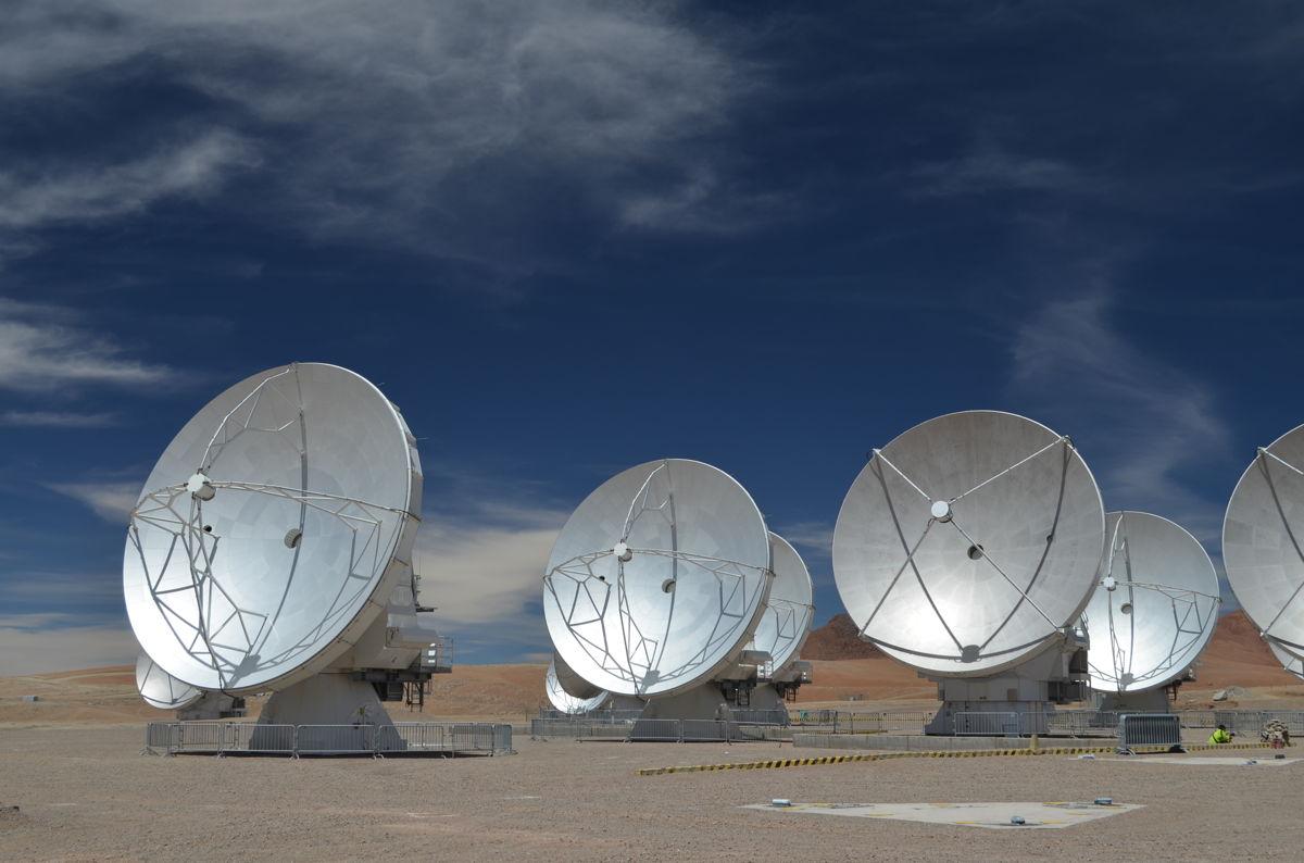 ALMA Telescope's Giant Antennas