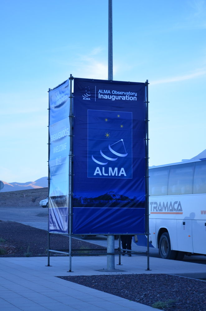 ALMA Observatory Inauguration Sign