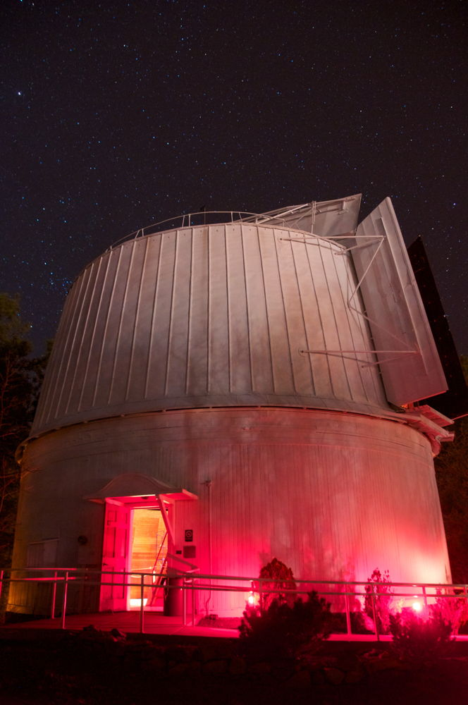 Clark Telescope Dome Glows at Night