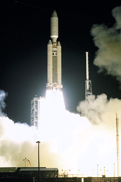 Space History Photo: Launch of Cassini Orbiter & Huygens Probe
