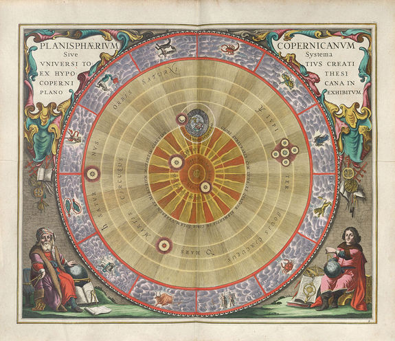 The Copernican Planisphere, illustrated in 1661 by Andreas Cellarius.