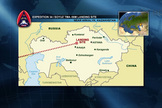 This NASA graphic depicts the landing site in Kazakhstan for NASA astronaut Kevin Ford and Russian cosmonauts Oleg Novitskiy and Evgeny Tarelkin, the Expedition 34 crew,  who were returning to Earth on March 15, 2013.