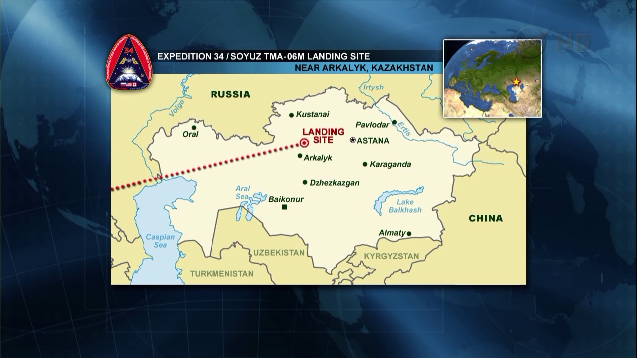 Kazakhstan Landing Zone: Expedition 34 Crew