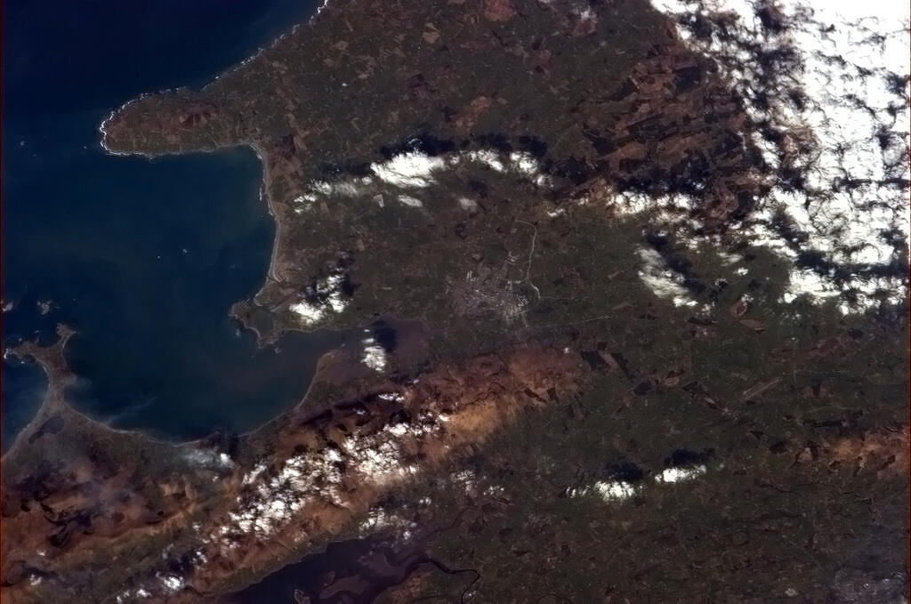 Ireland from Space on St. Patrick's Day 2013