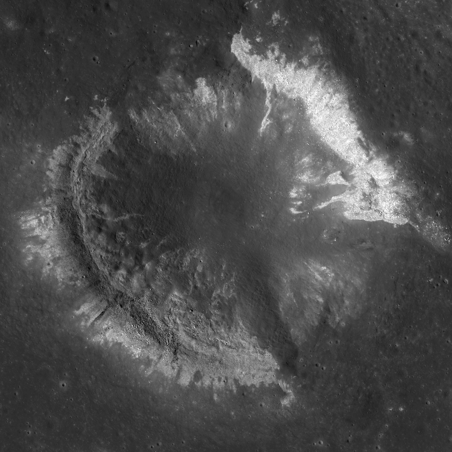Wrinkle Ridge vs. Impact Crater
