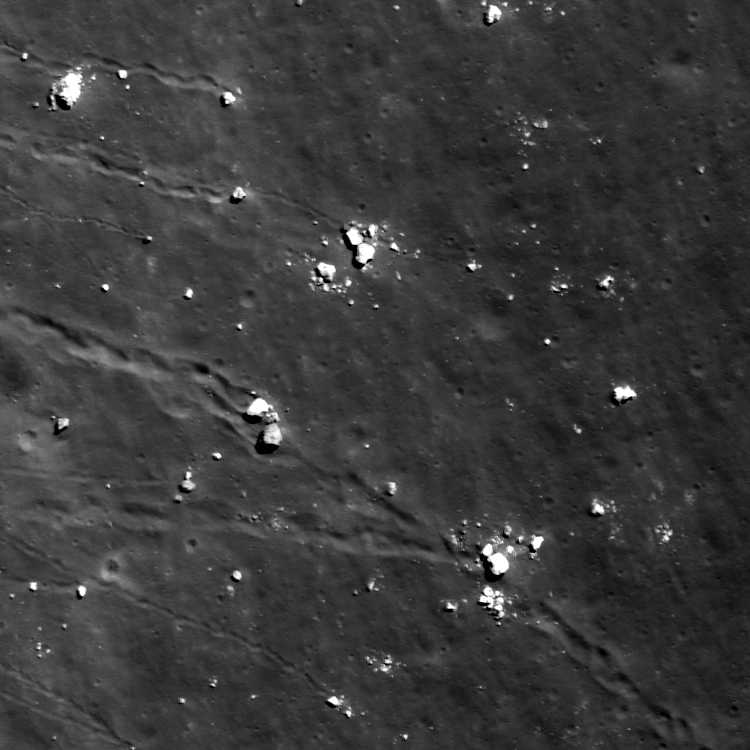 Lazy Boulders in Scaliger Crater