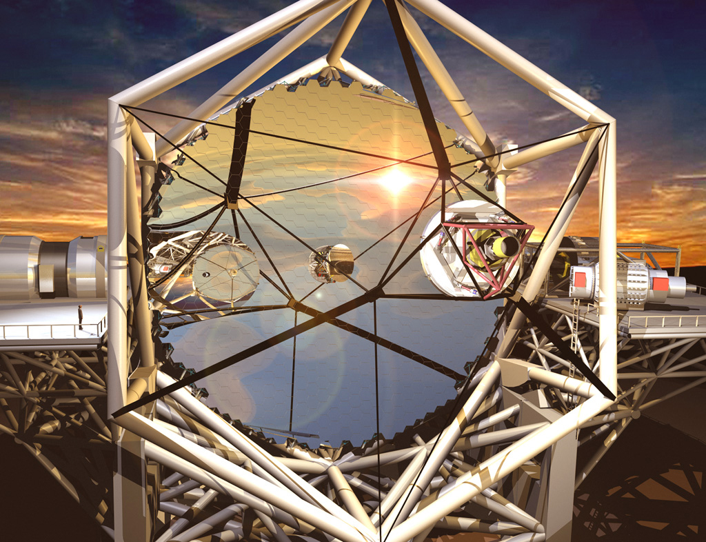 Artist's Interpretation of the Thirty Meter Telescope