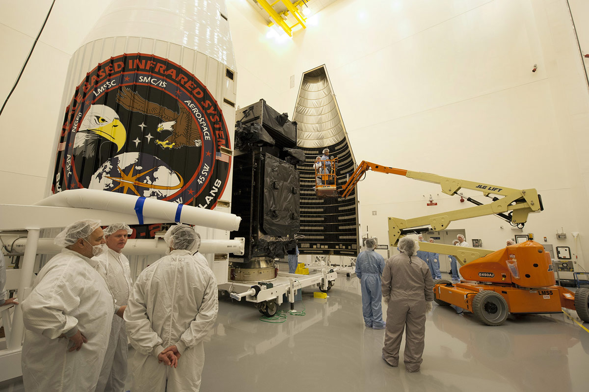 SBIRS GEO-2 Satellite Encapsulated
