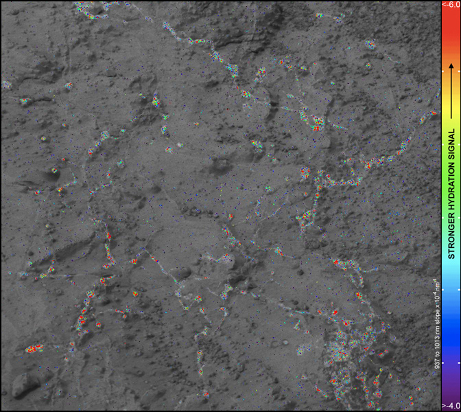 Hydration Map, Based on Mastcam Spectra, for 'Knorr' Rock Target