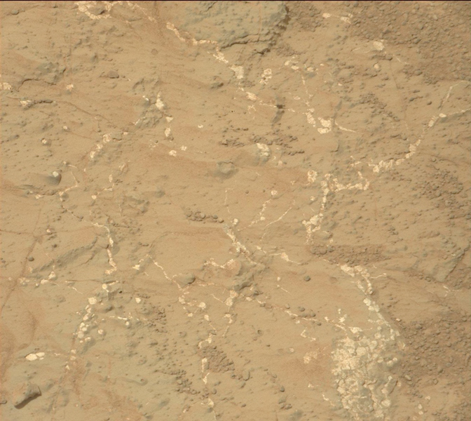 Veins and Nodules at 'Knorr' Target in 'Yellowknife Bay' of Gale Crater