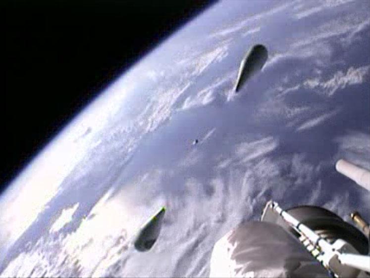 SBIRS GEO-2 Satellite Launch: Atlas 5 Fairing Separation