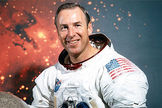 Jim Lovell, commander of the Apollo 13 mission, flew into space four times.