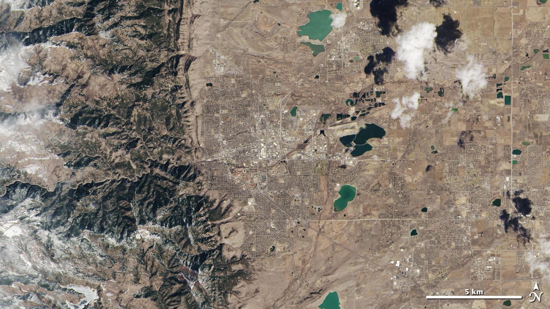 LDCM Satellite Image of Boulder, Colorado