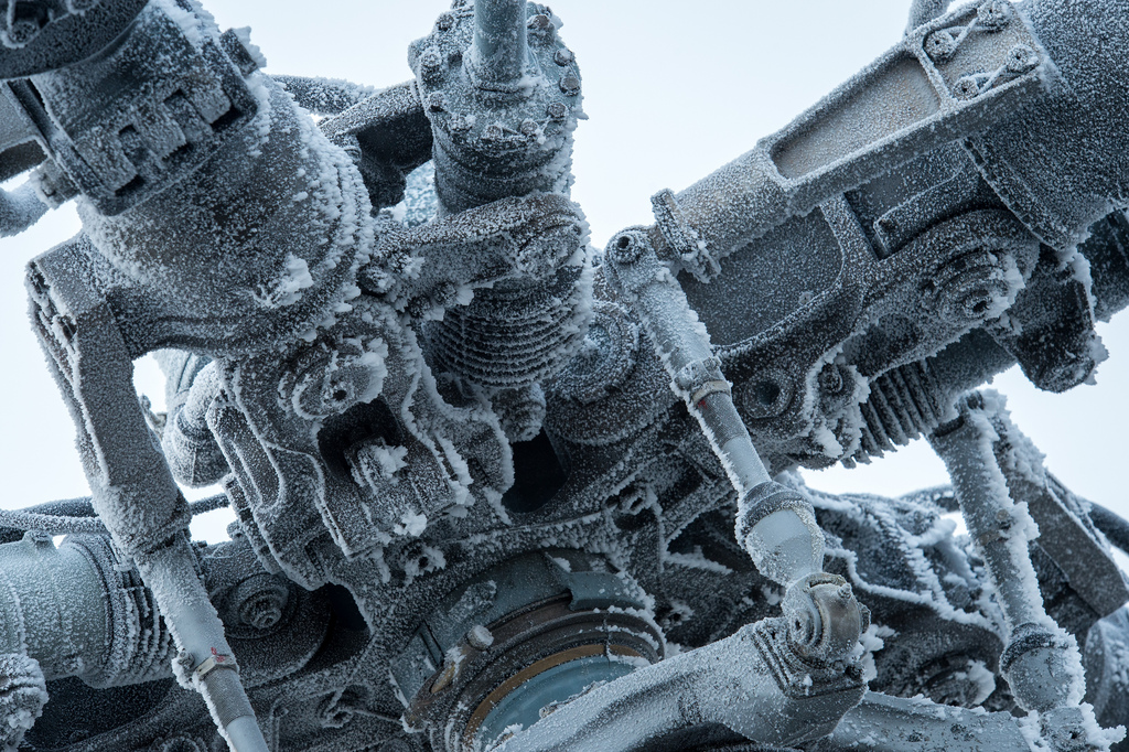 Frost-covered Rotor