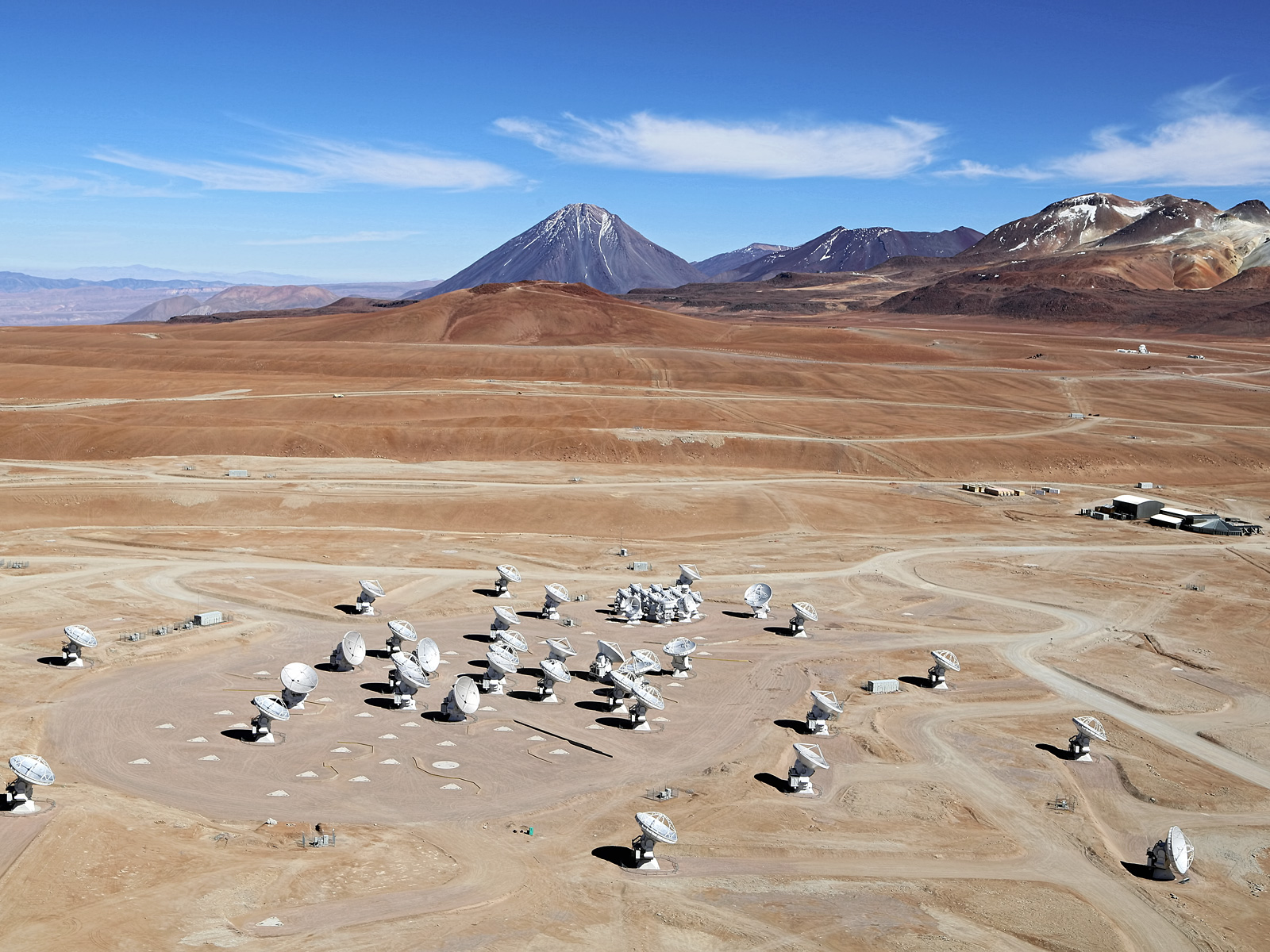 ALMA Array from the Air Space Wallpaper
