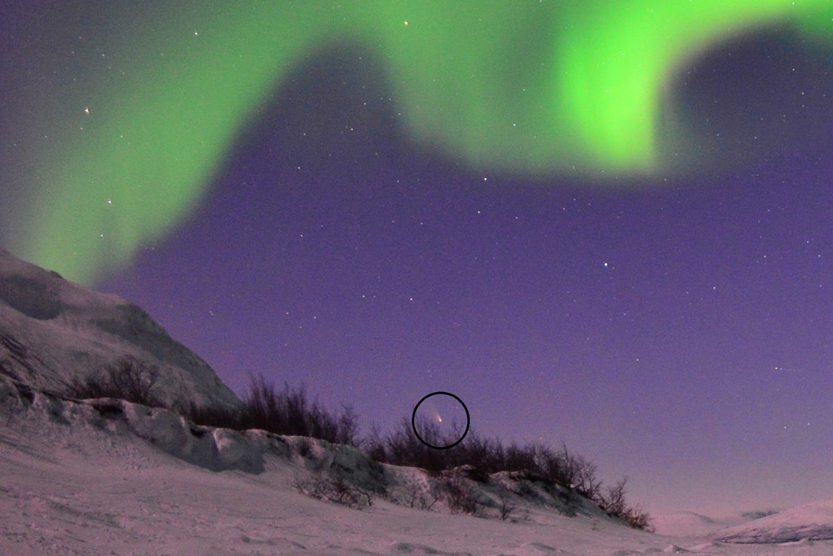 Comet Pan-STARRS and Aurora Over Lapland #2