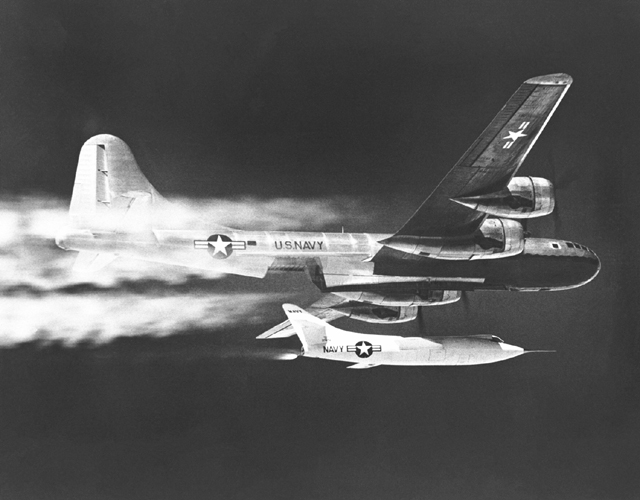 Space History Photo: D-558-2 Dropped from B-29 Mothership