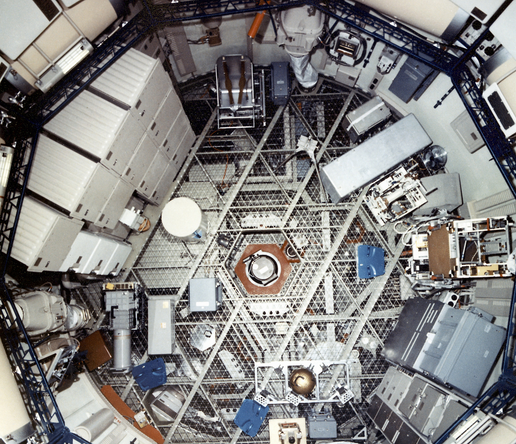 Skylab Orbital Workshop From Above