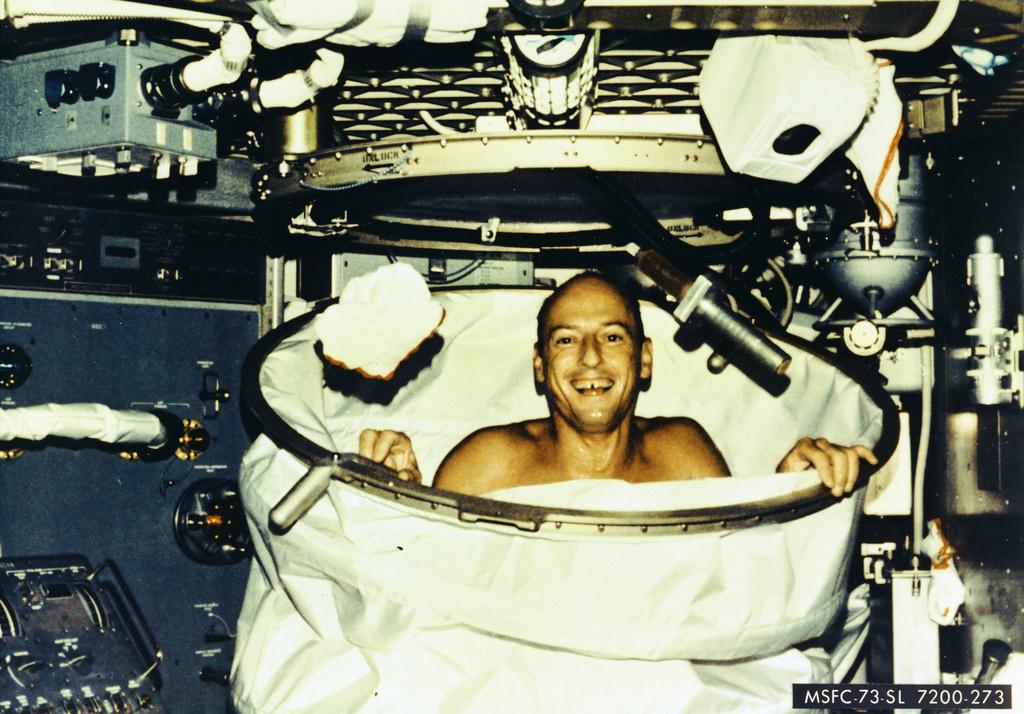 Showering Aboard Skylab