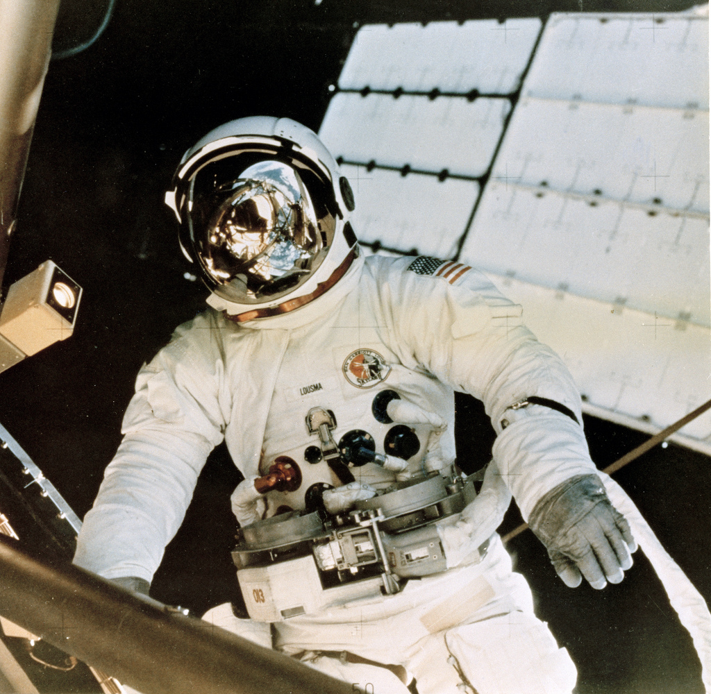 Astronaut Jack Lousma, Skylab Sunshade Deployment