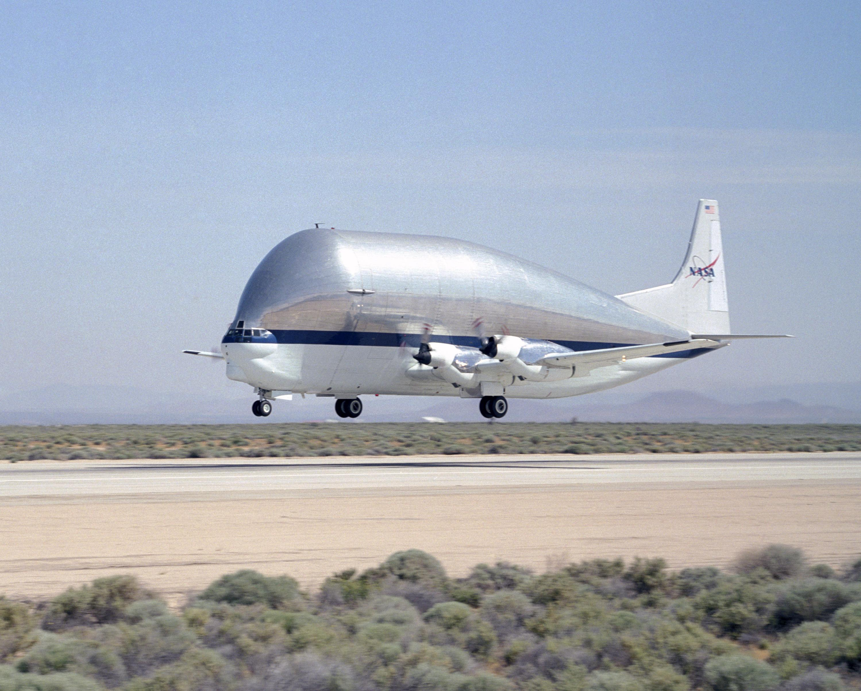 Super Guppy Lifts Off the Runway