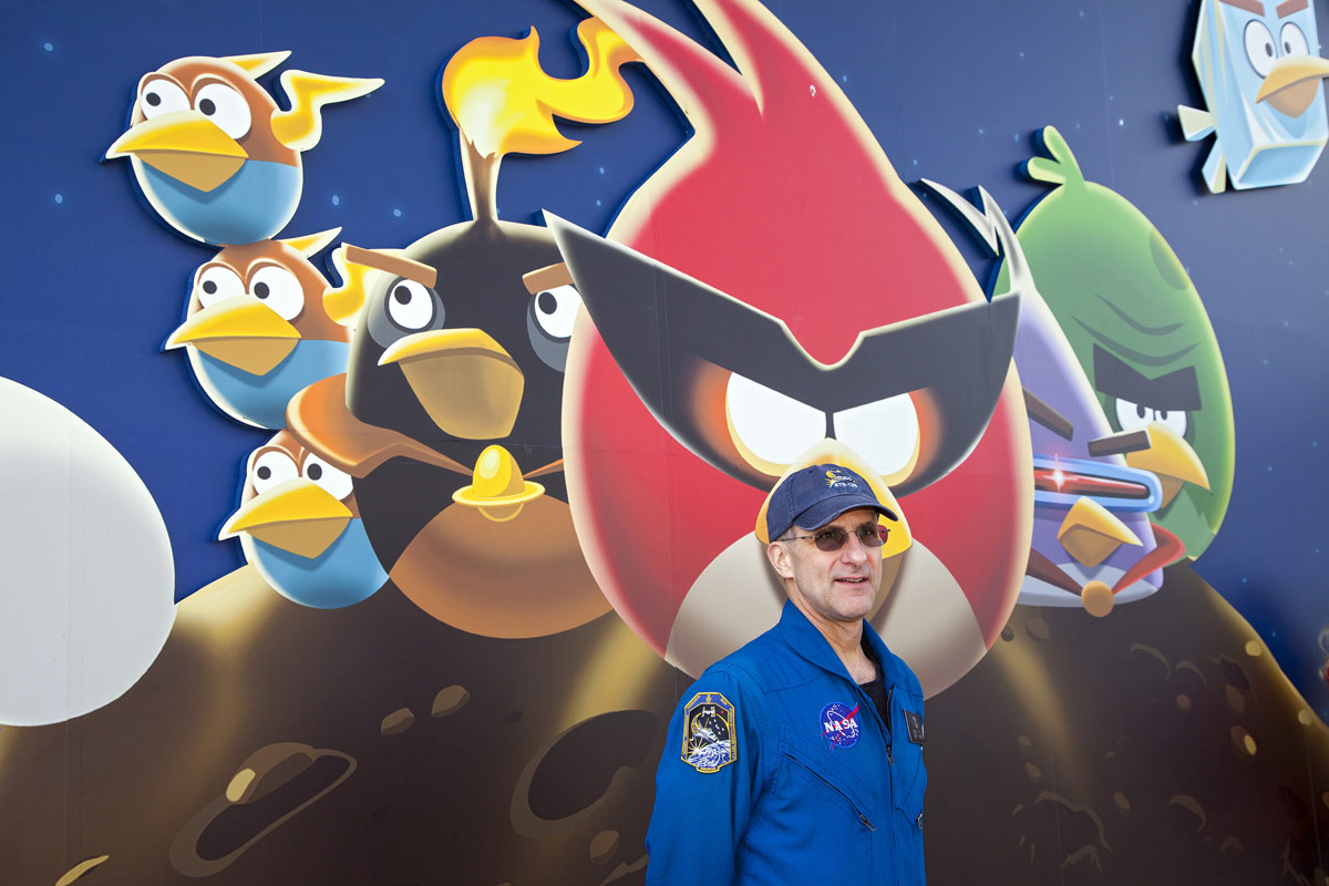 Don Pettit at Angry Birds Space Encounter