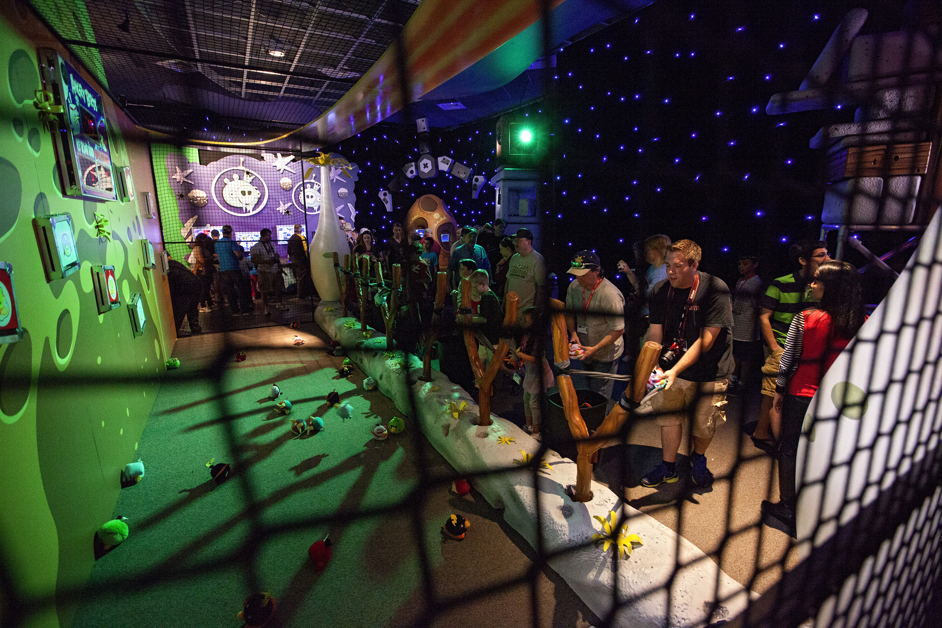 Visitors Play Angry Birds Space Encounter at Exhibit