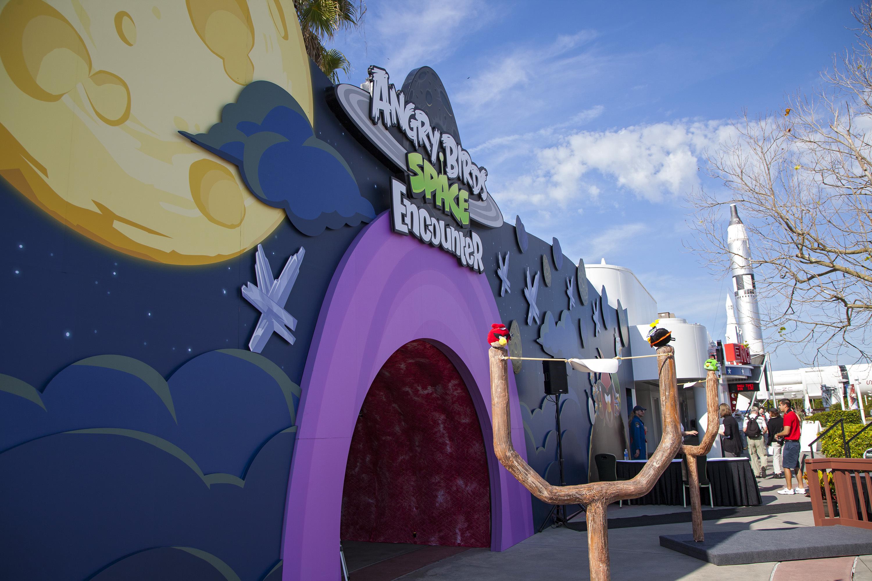 Angry Birds Space Encounter Exhibit Entrance