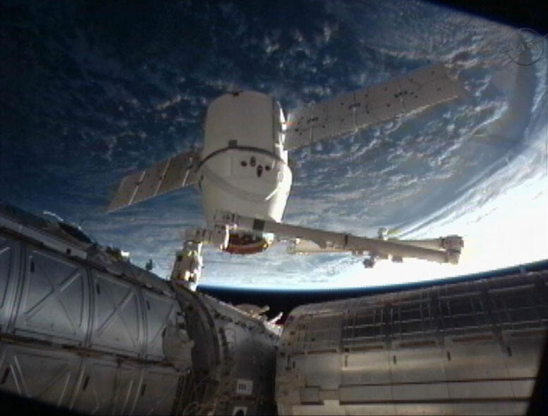 SpaceX Dragon Detached from Space Station