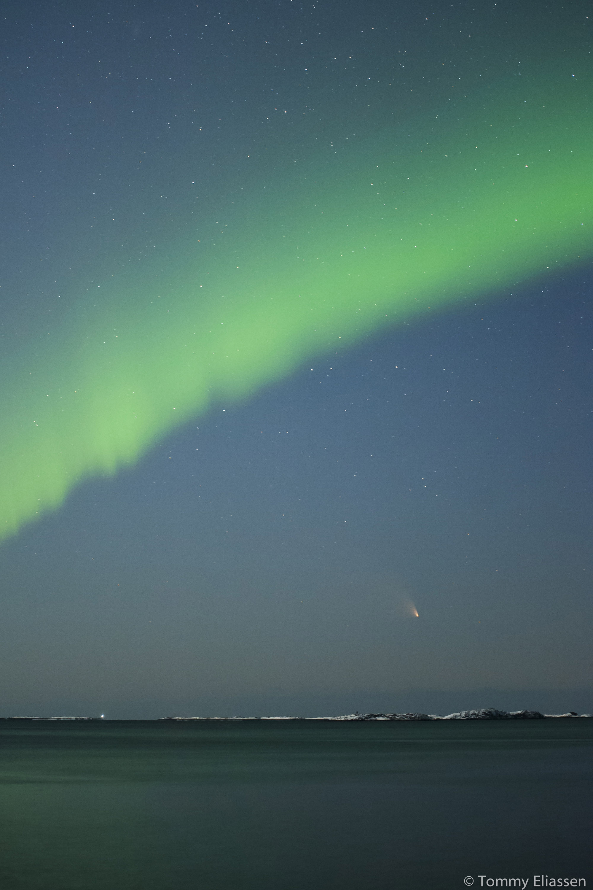 Comet Pan-STARRS and Northern Lights: Tommy Eliassen