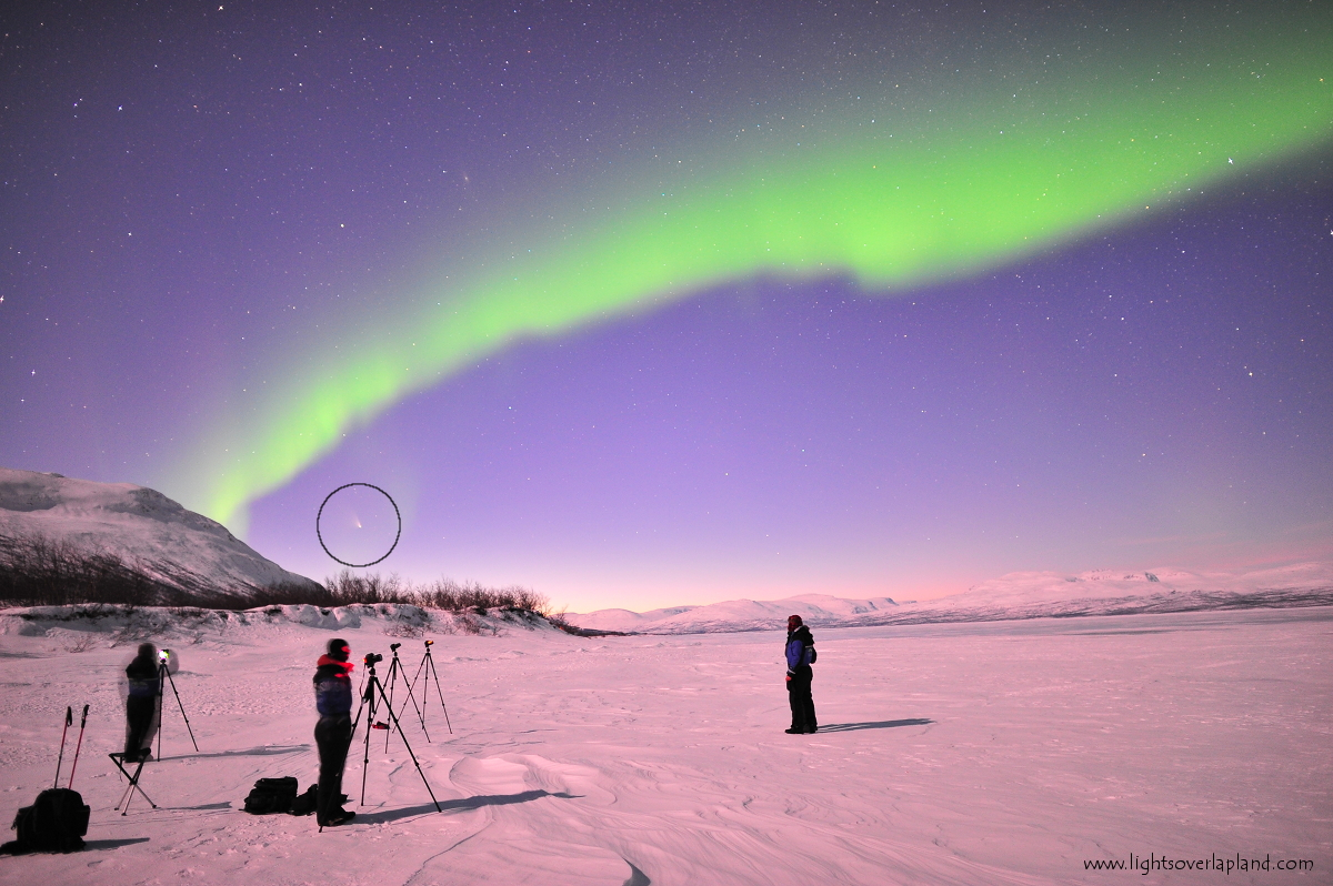 Come Pan-STARRS and Abisko Auroras: Chad Blakely