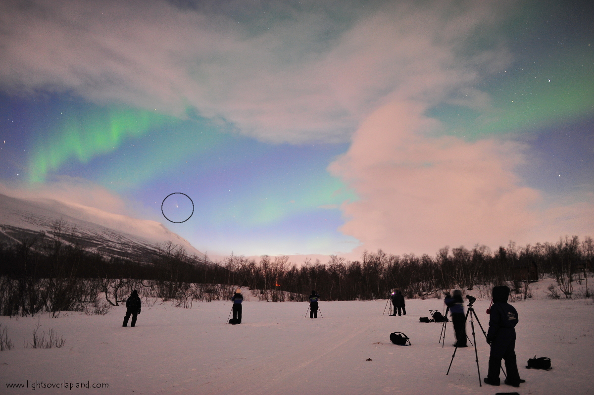 Comet Pan-STARRS and Abisko Aurora: Chad Blakely