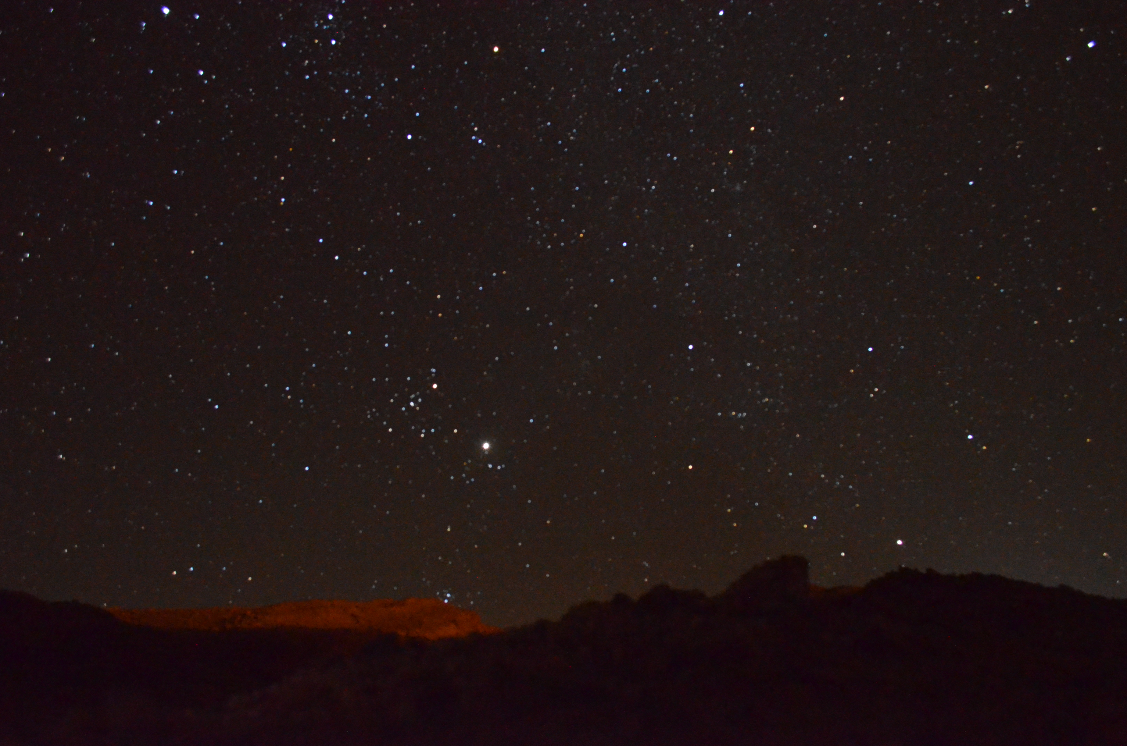 The stars shine bright and clear above the small desert oasis town of San Pedro de Atacama.