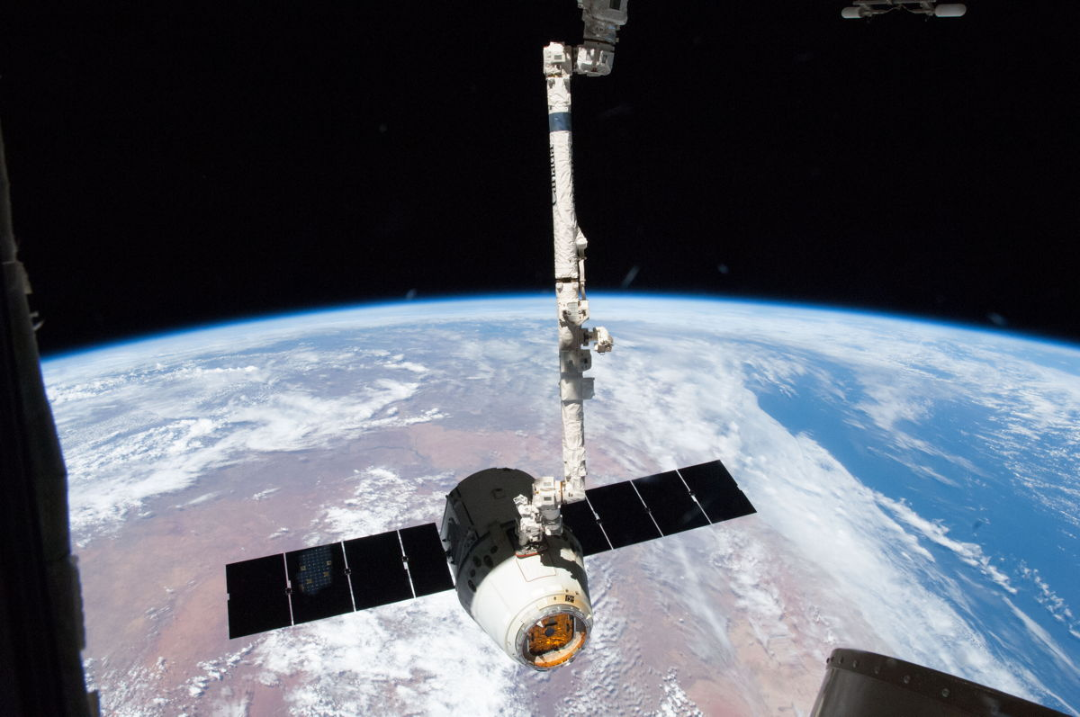 SpaceX Dragon Spacecraft at ISS #4