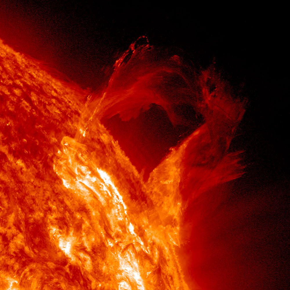'Graceful Eruption' on Sun Revealed in Stunning Photo