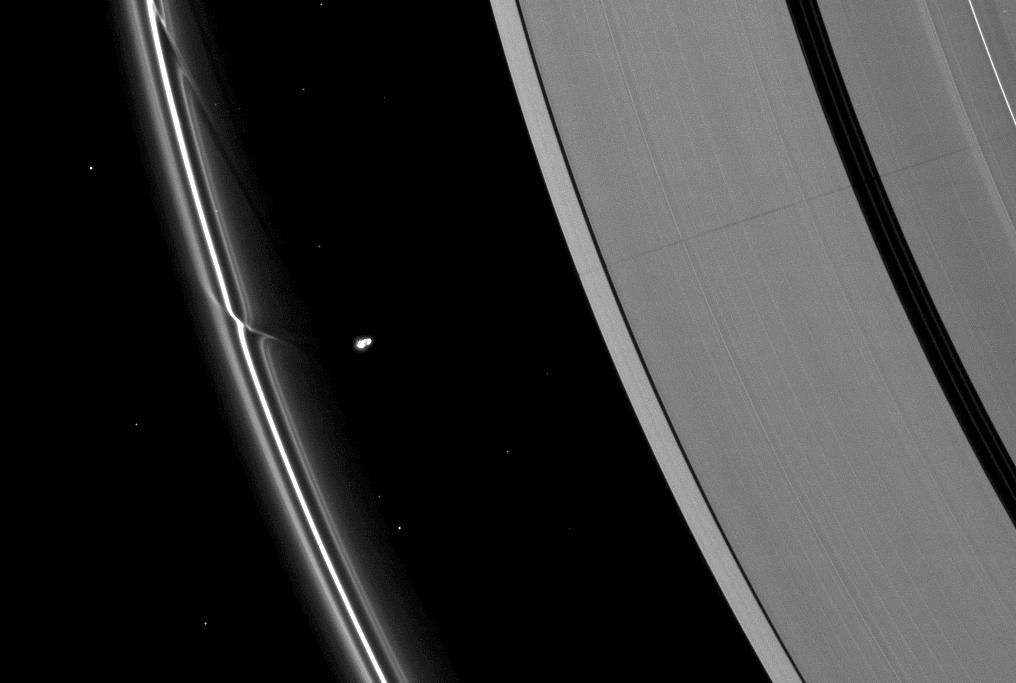 Prometheus' Effects on Saturn's Rings