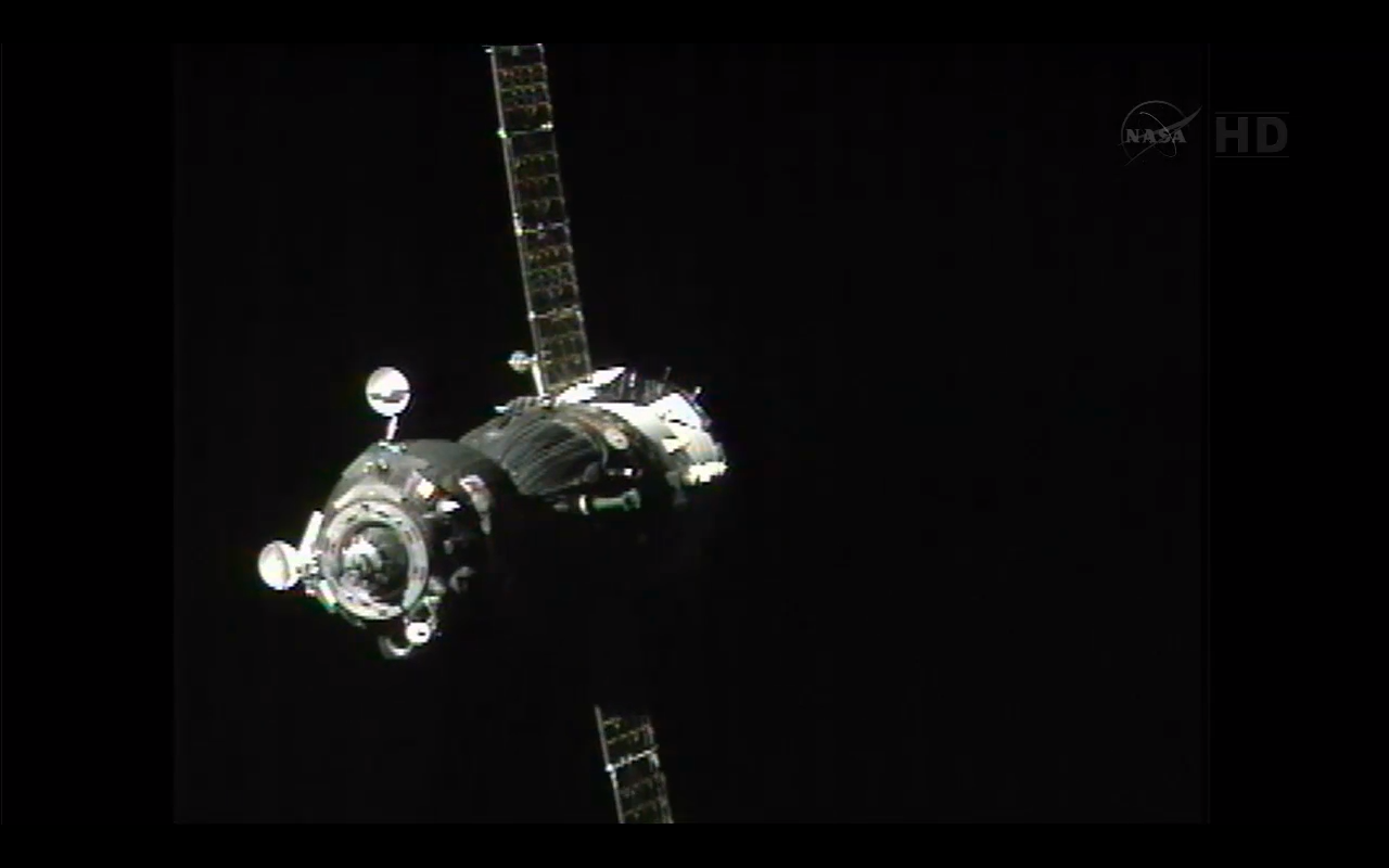 Soyuz Makes its Approach to the International Space Station