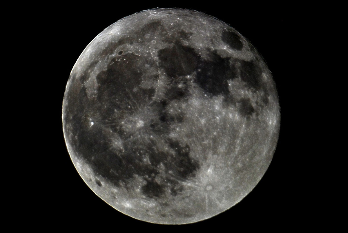 March 2013 Full Moon Over Cornwall, England